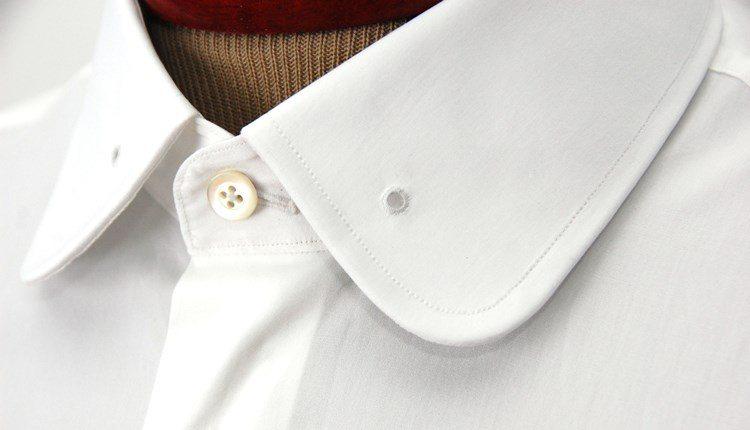 How to wear a pinned collar dress shirt for Tie bar collar shirt