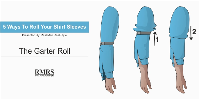 Real Men Real Style shirt sleeves rolling methods