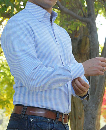 Hot weather dressing dressing sharp in the heat part 1 for Dress shirt monogram placement