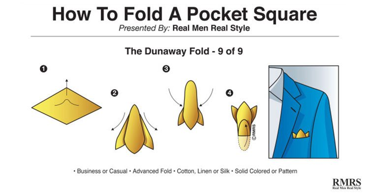 how to fold a handkerchief for a suit - dunaway