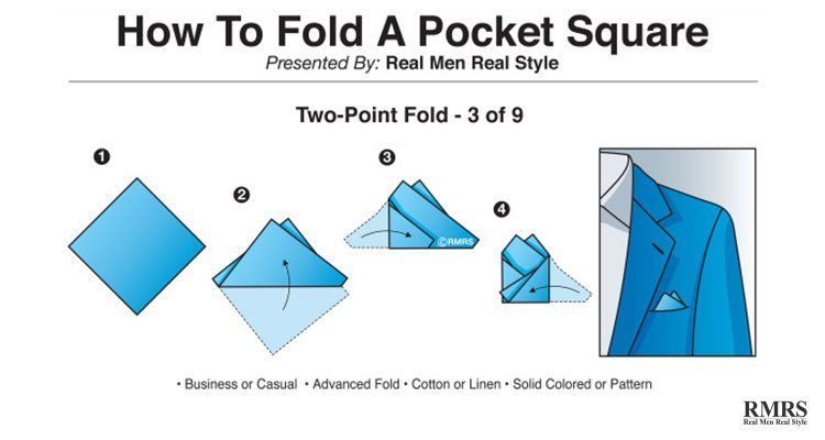 how to fold a handkerchief - two-point