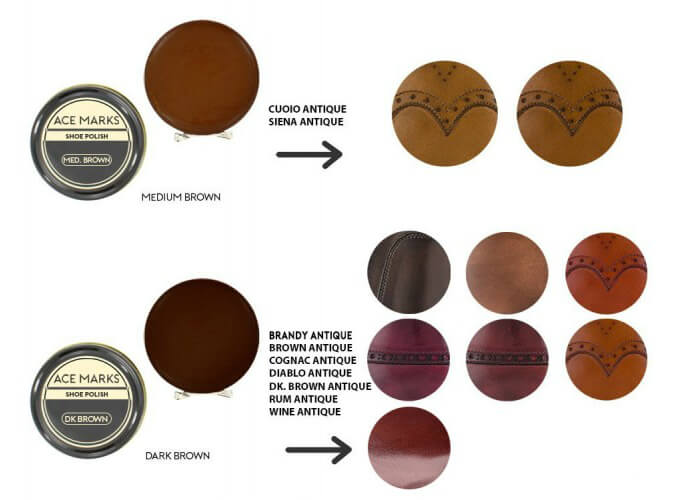 ace marks shoe polish colors