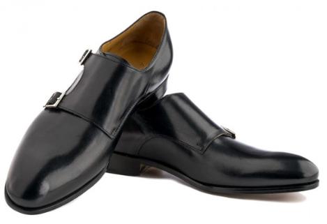 black double monk straps