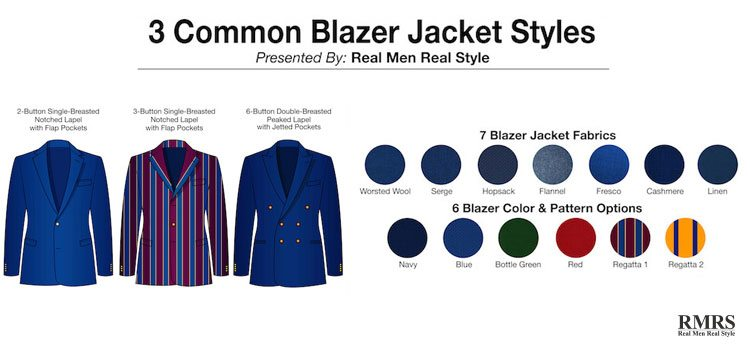 common blazer jacket styles