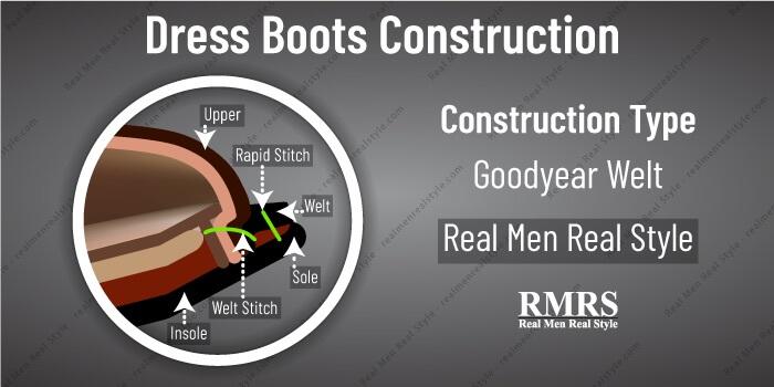 dress boots construction goodyear welt
