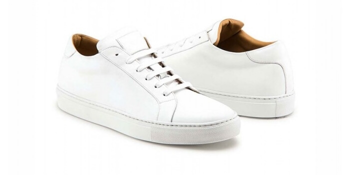 white dress sneakers for men