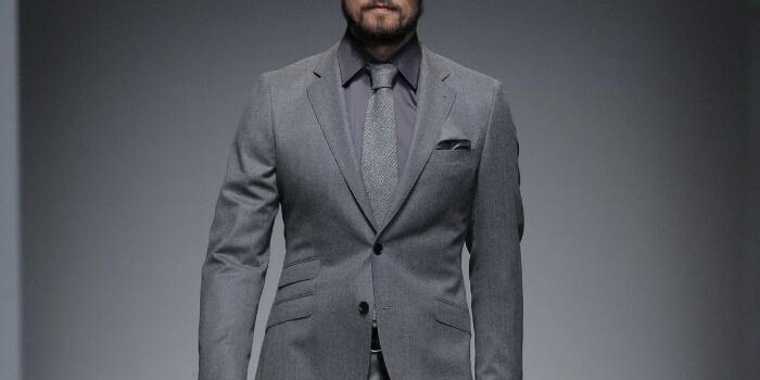 gray monochrome suit