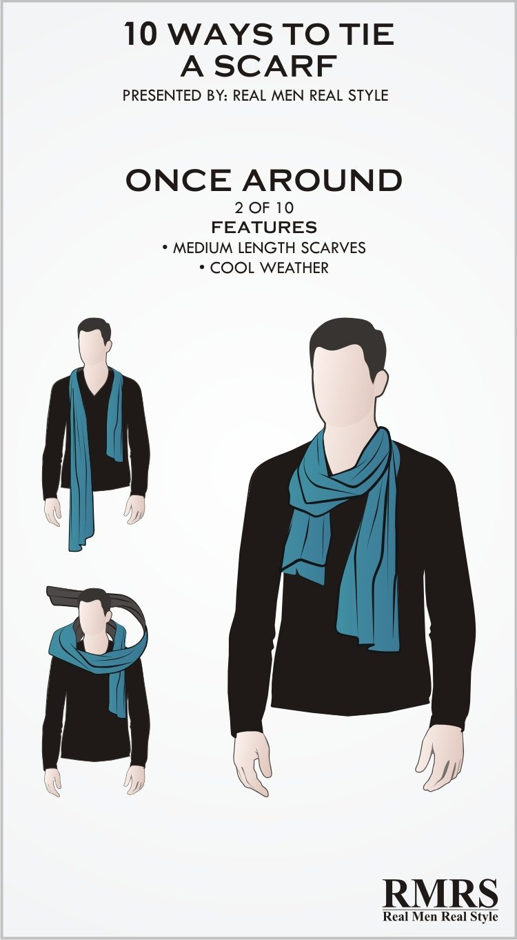 How to neck a wear scarf male images