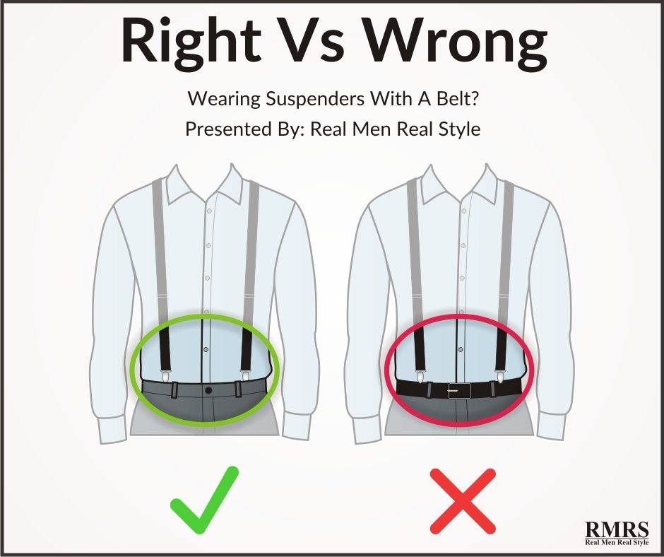 Image result for how to wear suspenders for men