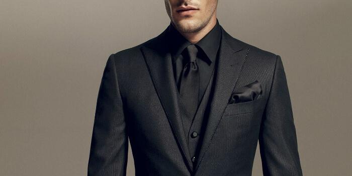 monochrome suit black