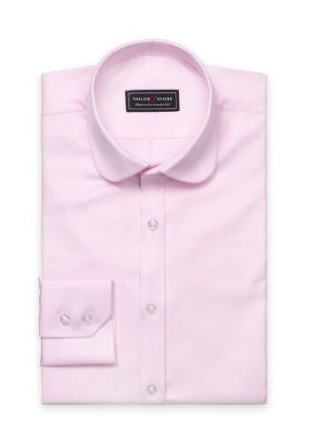 pink club collar shirt