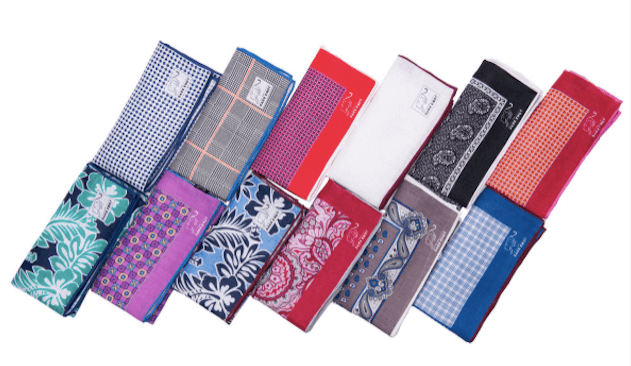 Mens Cotton Pocket Squares