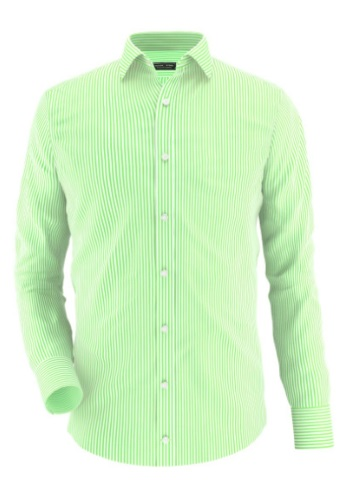 tailor store green stripe shirt