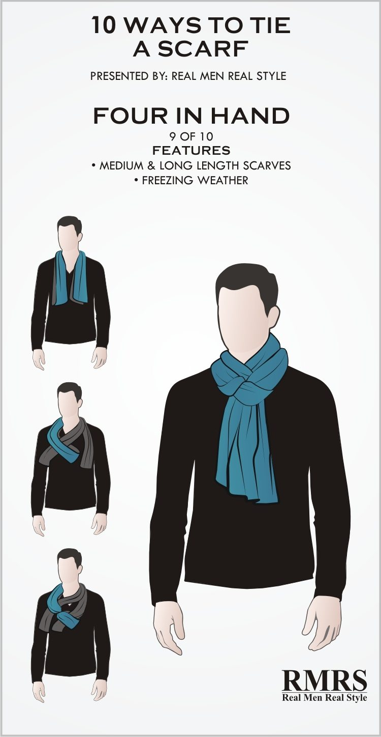 907a4730c80b Another great way to tie a long scarf, this scarf knot protects the neck  very well and is the perfect option when the weather is freezing cold.