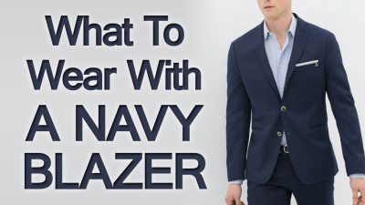 Navy blue blazer combinations